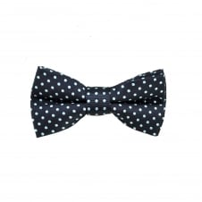 Navy Blue & Sky Blue Polka Dot Boys Bow Tie