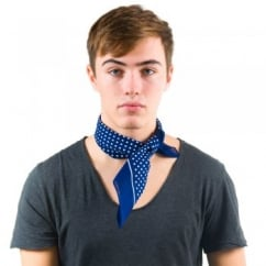 Navy Blue & White Polka Dot Bandana Neckerchief