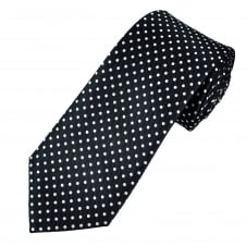 Navy Blue & White Polka Dot Men's Tie