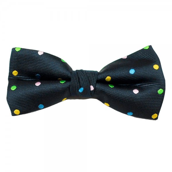 ab587c1c45d1 Navy Blue, Yellow, Green, Blue & Pink Polka Dot Bow Tie from Ties Planet UK
