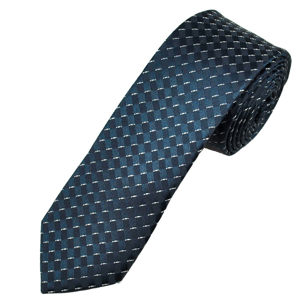 navy ivory patterned s tie