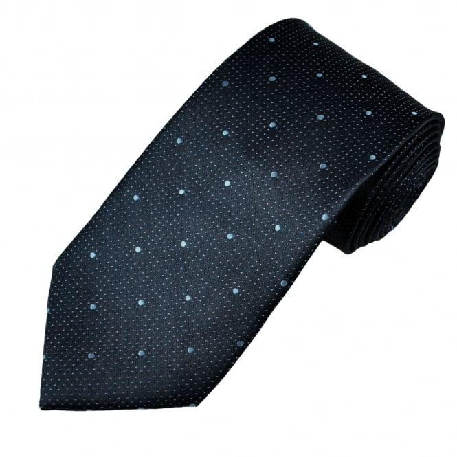 Navy & Light Blue Polka Dot Men's Tie