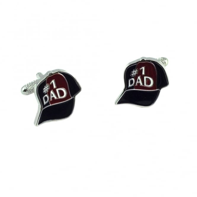 number 1 dad baseball cap novelty cufflinks