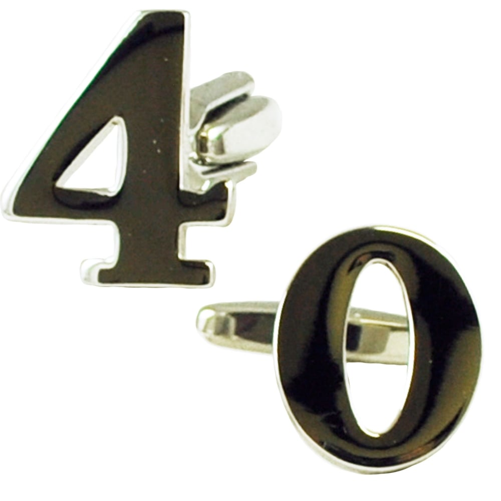 Number 40 40th Birthday Gift Cufflinks From Ties Planet UK