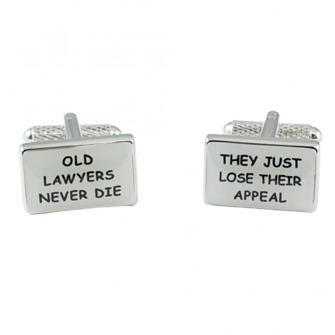 Old Lawyers Never Die, They Just Lose Their Appeal Novelty Cufflinks