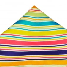 Orange, Purple, Pink, Yellow, Turquoise, Green & Silver Striped Pocket Square Handkerchief
