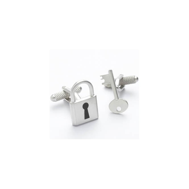 padlock and key novelty cufflinks