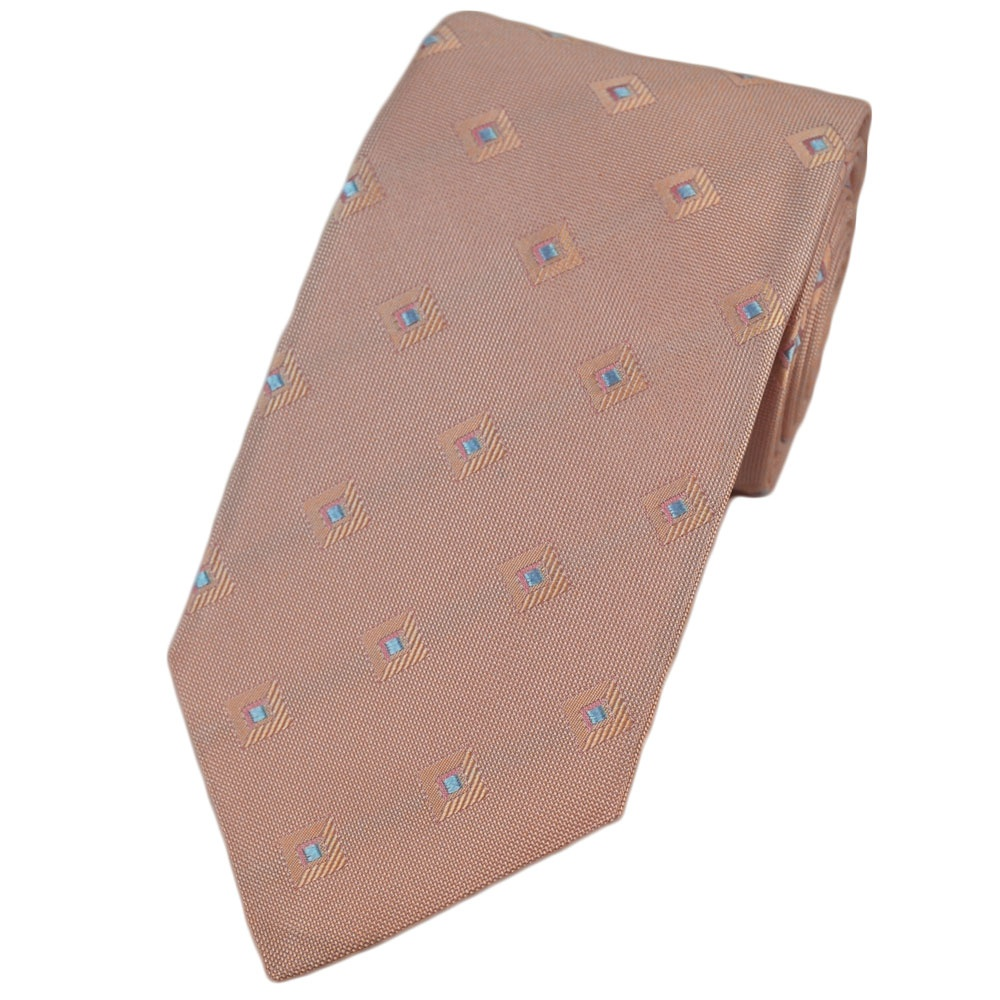 pale pink blue patterned silk tie from ties