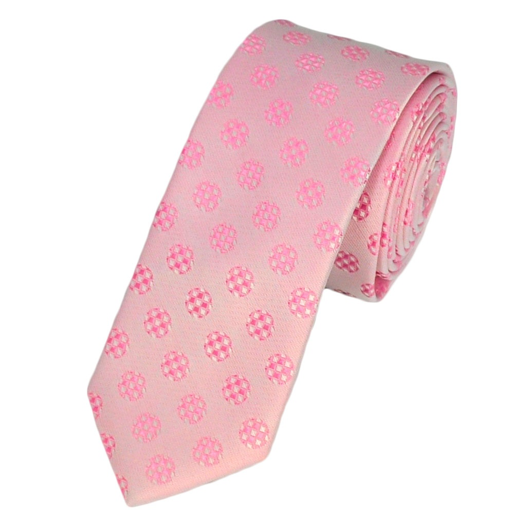 pale pink white pink patterned tie from ties