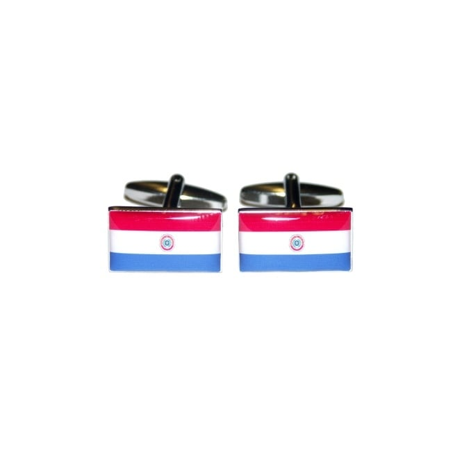 paraguay flag novelty cufflinks