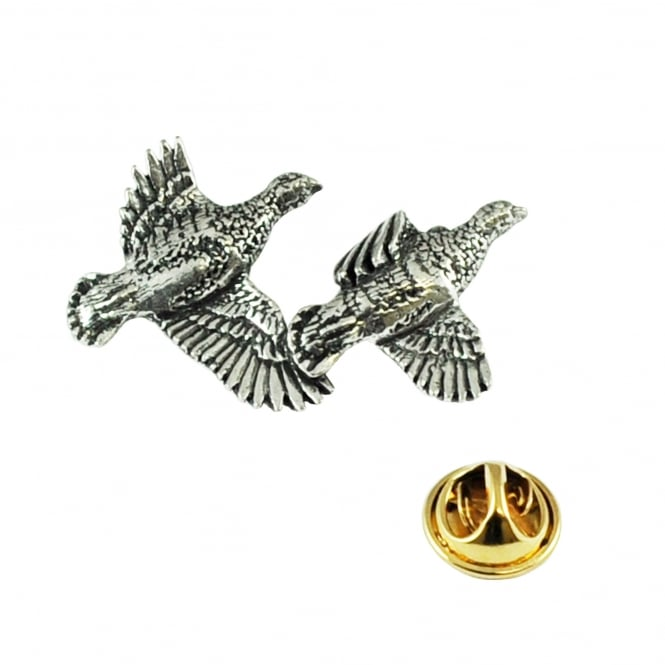Partridge Bird English Pewter Lapel Pin Badge