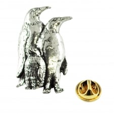 Penguins English Pewter Lapel Pin Badge
