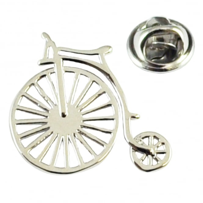 Penny Farthing Bicycle Lapel Pin Badge