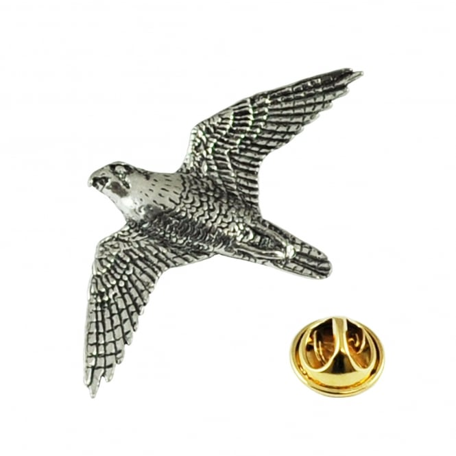 Peregrine Falcon English Pewter Lapel Pin Badge