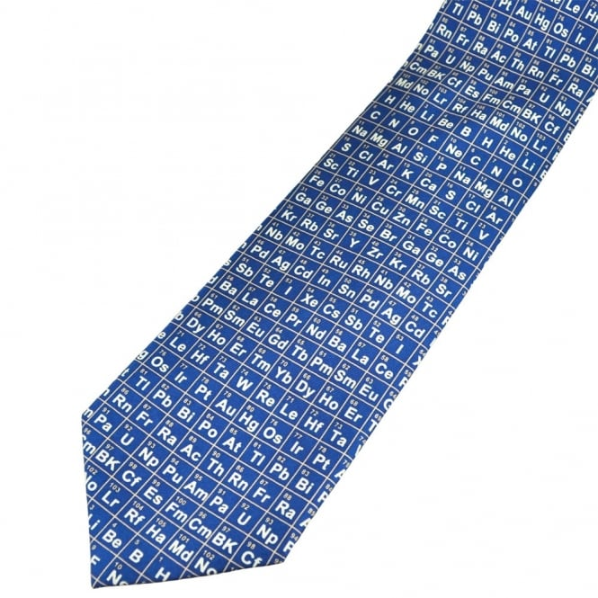 Periodic table blue silk novelty tie from ties planet uk periodic table blue silk novelty tie urtaz Choice Image