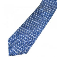 Periodic Table Blue Silk Novelty Tie
