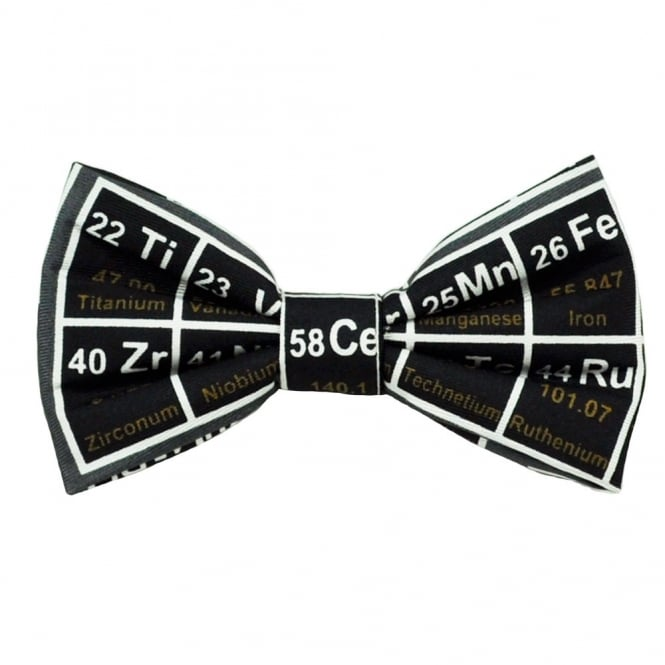 Periodic Table Grey Novelty Bow Tie