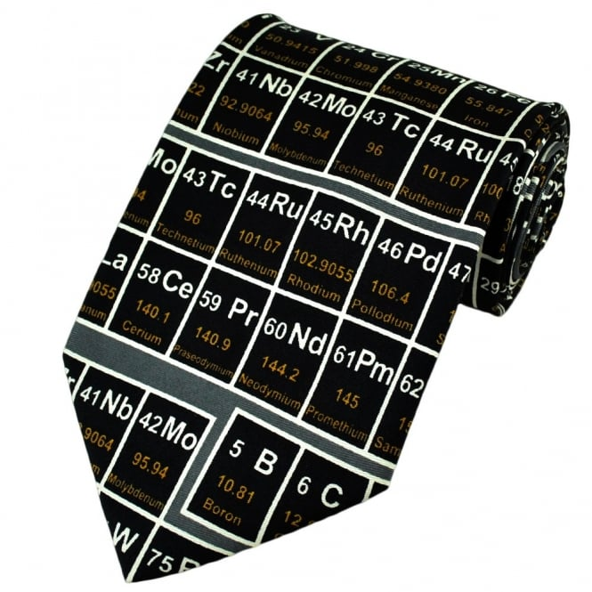 Periodic table silk novelty tie from ties planet uk periodic table silk novelty tie urtaz Gallery