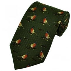 Pheasants Novelty Silk Tie