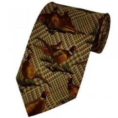 Pheasants Novelty Tie - Tartan