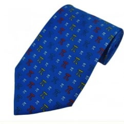 Pi Maths Blue Silk Novelty Tie