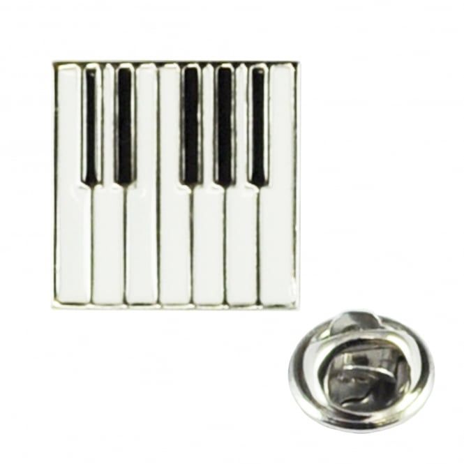 Piano Keyboard Lapel Pin Badge