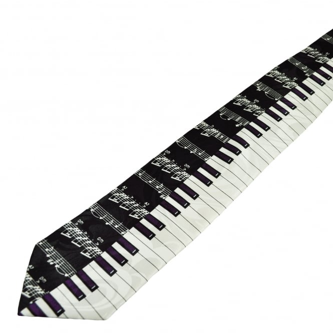 Piano Keyboard & Music Score Novelty Tie