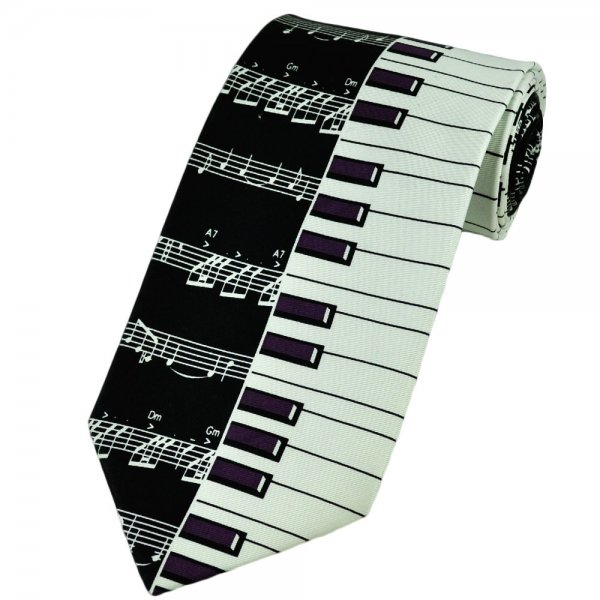 Piano Keyboard Amp Music Score Silk Tie From Ties Planet Uk