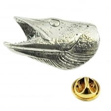 Pike Head Pewter Lapel Pin Badge
