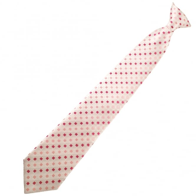 Pink & Baby Pink Patterned Clip On Tie