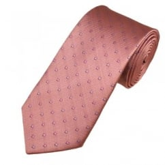 Pink & Lilac Square Patterned Men's Tie