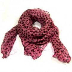 Pink Stars Square Scarf