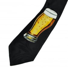 Pint of Beer Black Men's Novelty Tie