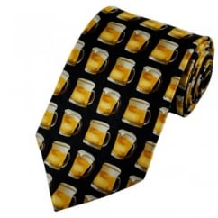 Pint Of Beer Novelty Silk Tie