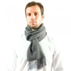 Plain Anthracite Grey 100% Lambswool Scarf