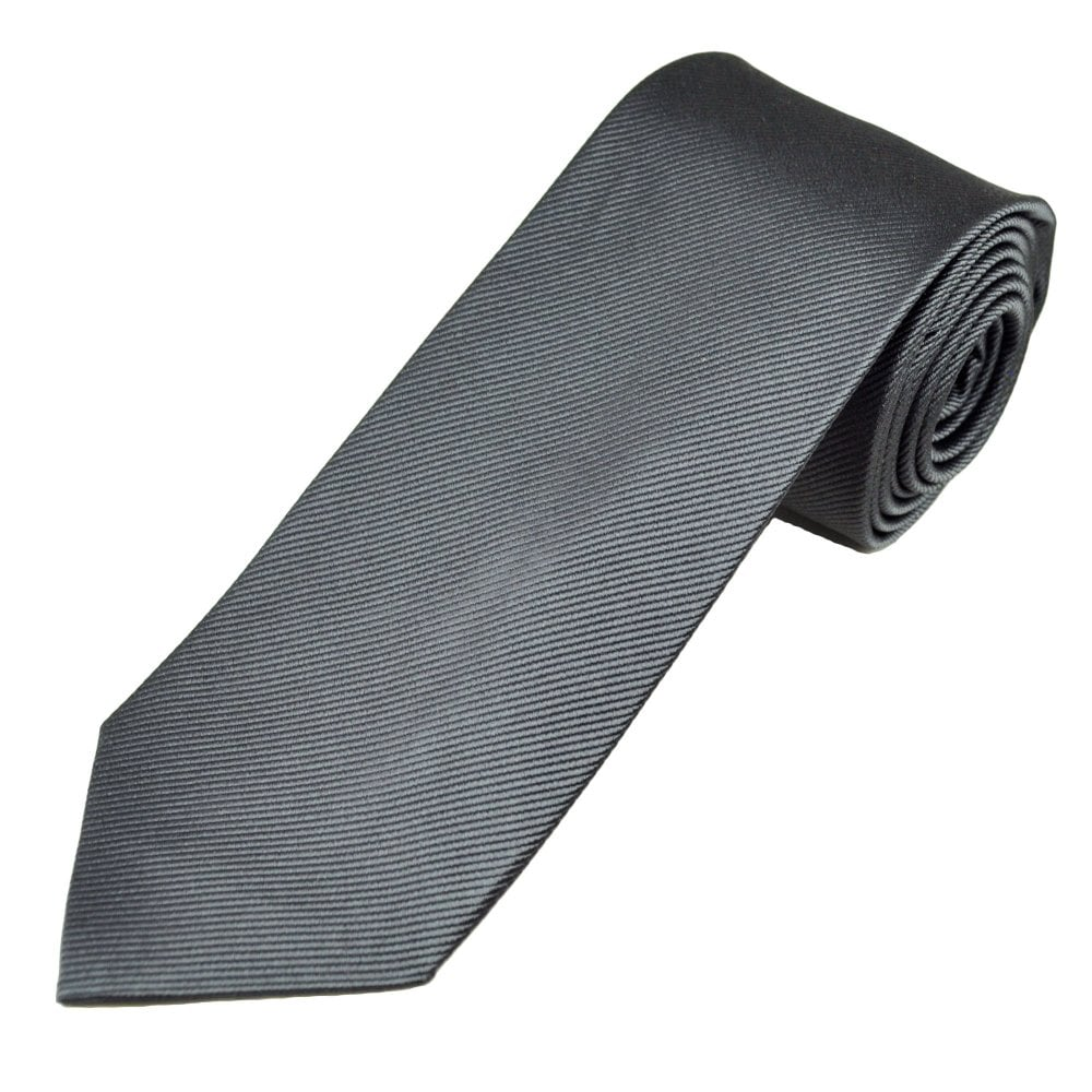 49111fd921a5 Plain Anthracite Grey Men's Silk Tie from Ties Planet UK