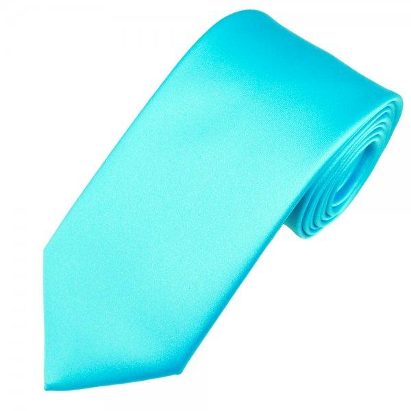 plain aqua blue satin tie from ties planet uk
