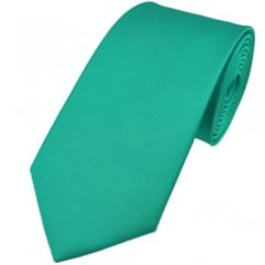 Plain Aqua Blue Silk Tie