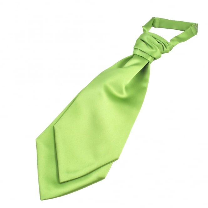 Plain Avocado Green Boys Scrunchie Wedding Cravat