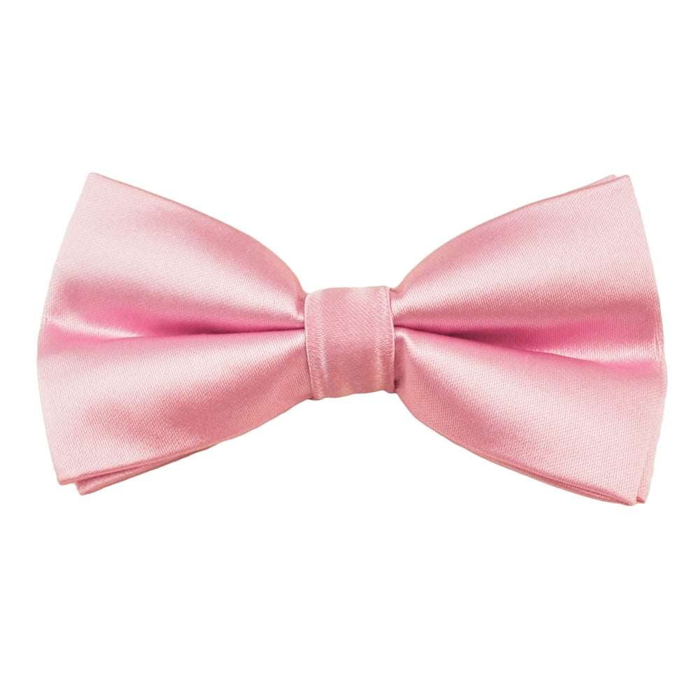Plain Baby Pink Bow Tie From Ties Planet Uk