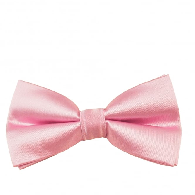 Plain Baby Pink Boys Bow Tie