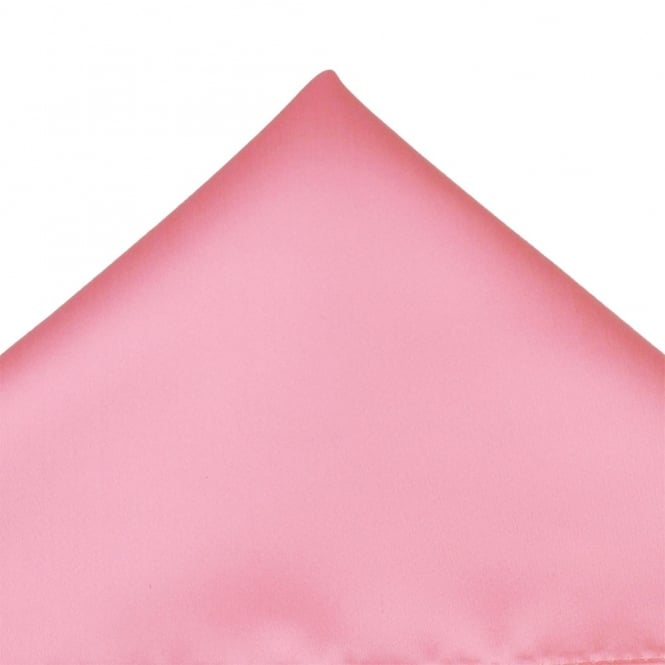 Plain Baby Pink Pocket Square Handkerchief