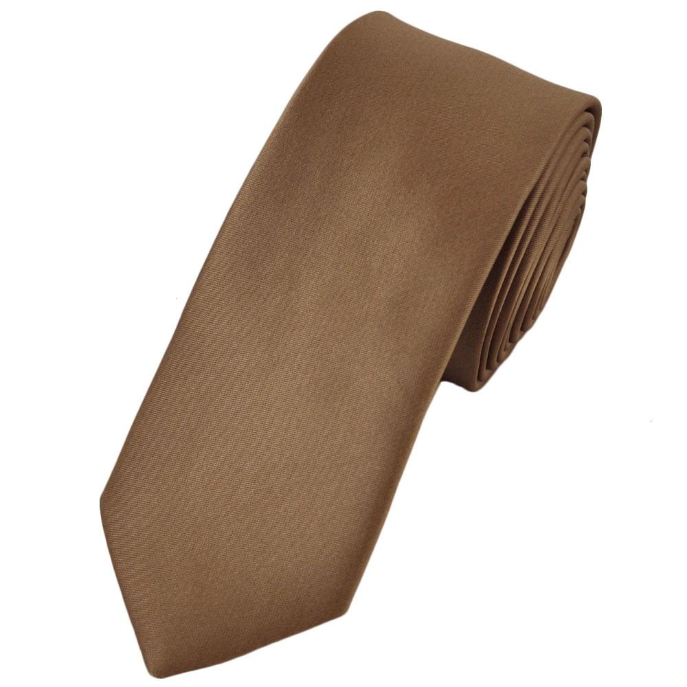 Plain Beige 6cm Narrow Tie from Ties Planet UK