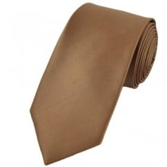 Plain Beige 7cm Narrow Tie