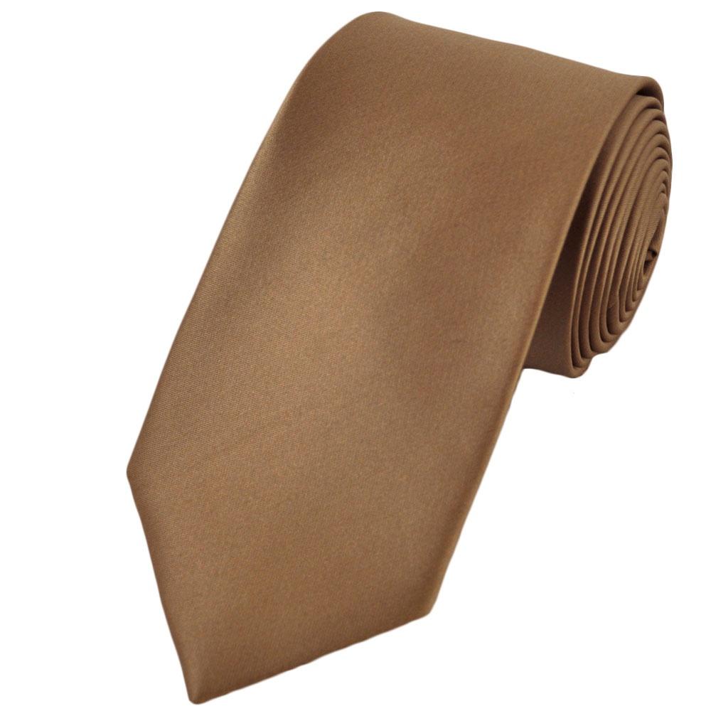 Plain Beige 7cm Narrow Tie from Ties Planet UK
