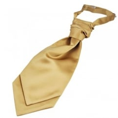 Plain Beige Boys Scrunchie Wedding Cravat