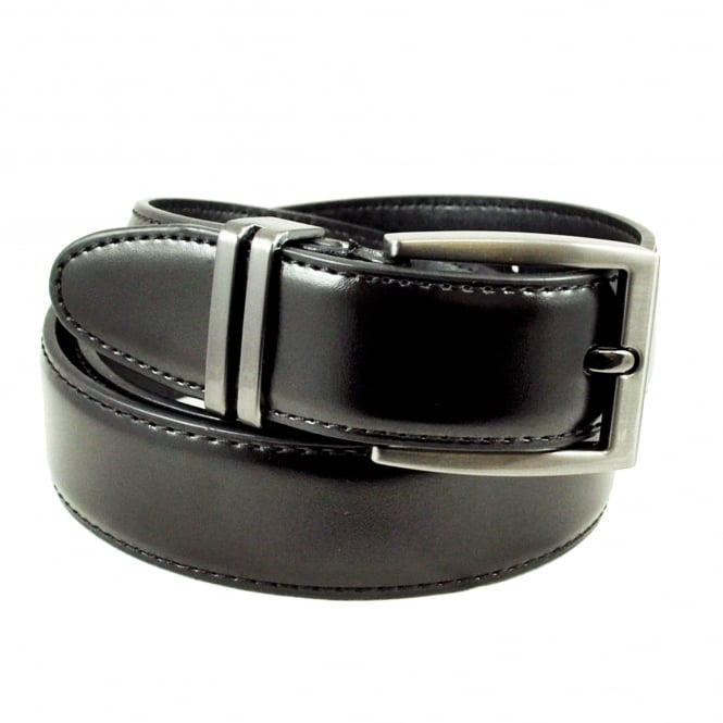 Plain Black 30mm Formal Men's Leather Belt