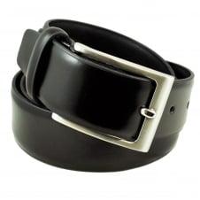 bb67840e0ecee Plain Black 35mm Men's Leather Belt