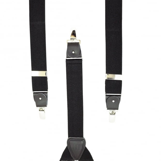 Plain Black Men's Trouser Braces