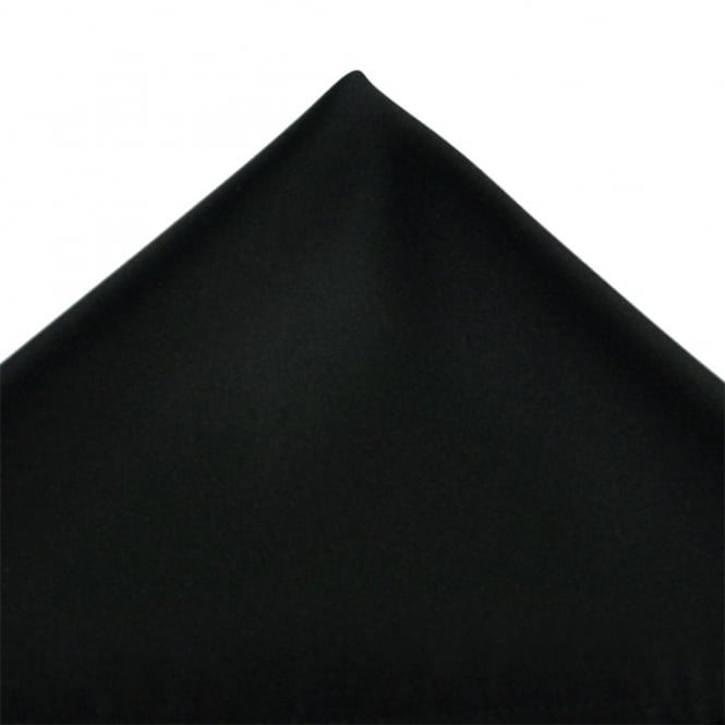 Plain Black Pocket Square Handkerchief